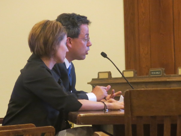 MPHA's Toby Fisher and Fun n' Fitchburg's Ayn Yeagle testify in support of House Bill 1859.