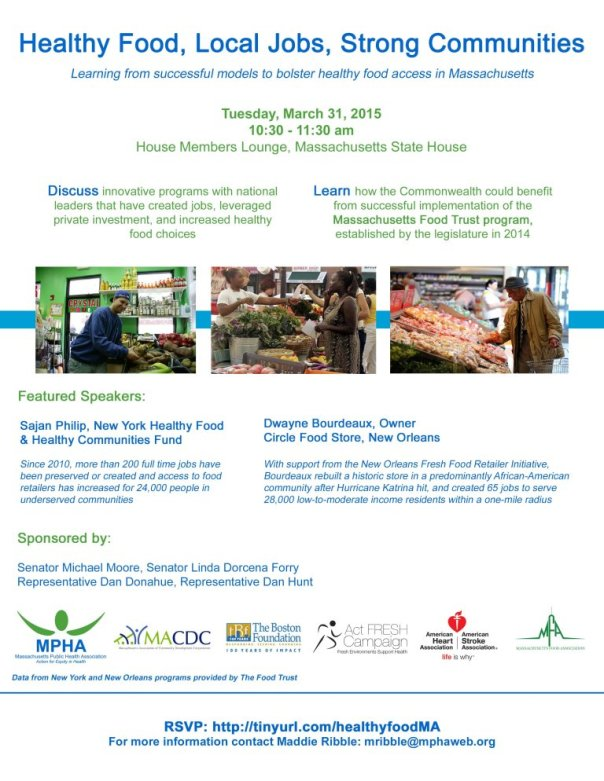 Healthy Food, Local Jobs, Strong Communities Invitation March 31, 2015