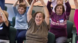 Seniors participate in a Prevention and Wellness Trust Fund falls prevention program.